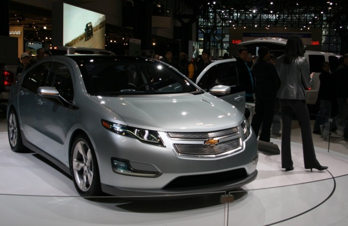 Vergrößerte Version von New York International Auto Show XV - GM Volt Elektroauto anzeigen