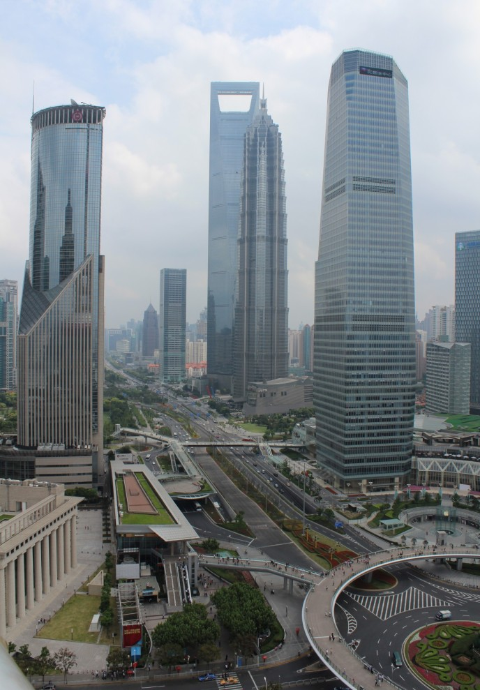 Vergrößerte Version von Shanghai - Jin-Mao-Tower und World Financial Center in Pudong anzeigen