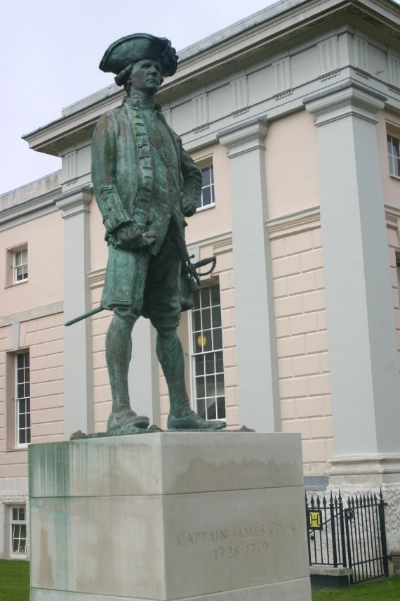 London - Captain Cook Statue in Greenwich