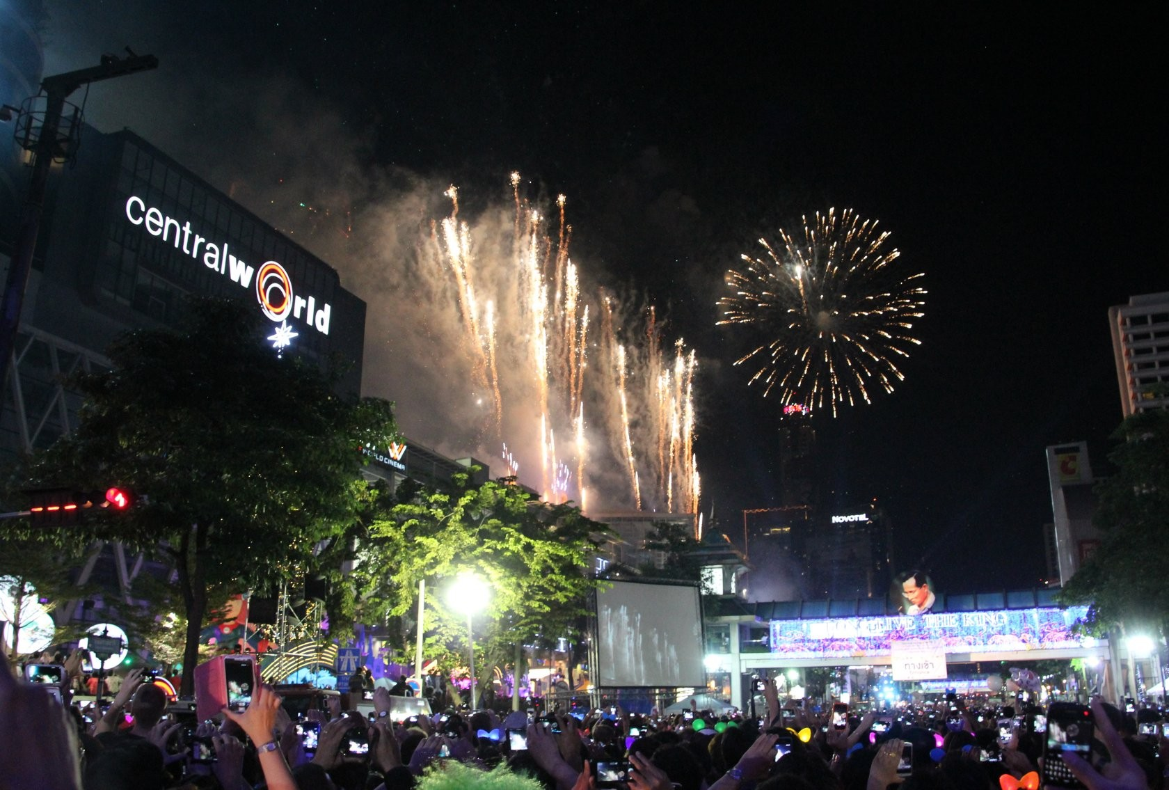 Bangkok - New Year Celebrations am Central World/Siam XII
