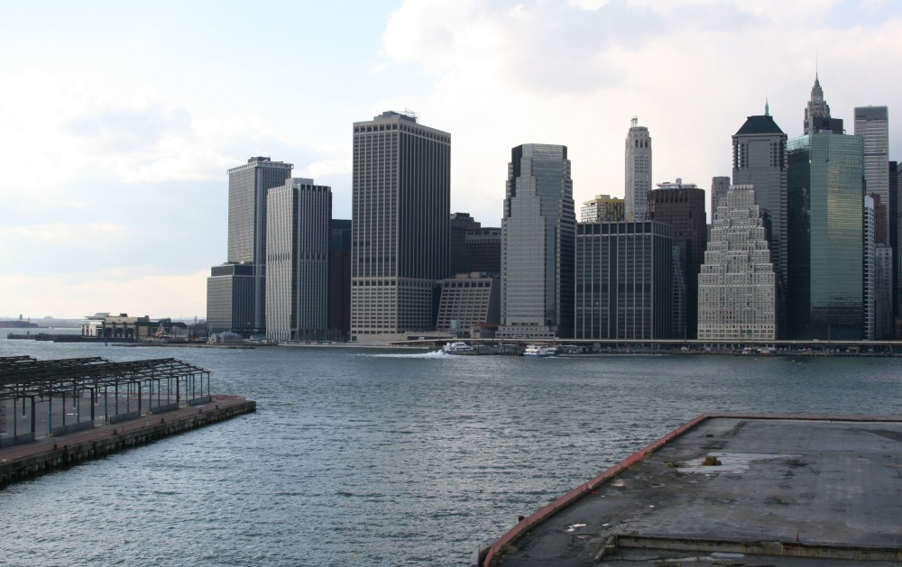 Downtown Manhattan von Brooklyn Heights aus