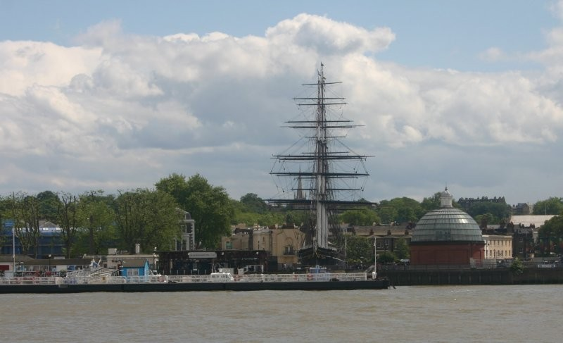 London - Themseufer mit Cutty Sark