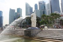 Merlion-Statue vor dem Central Business Disctrict II