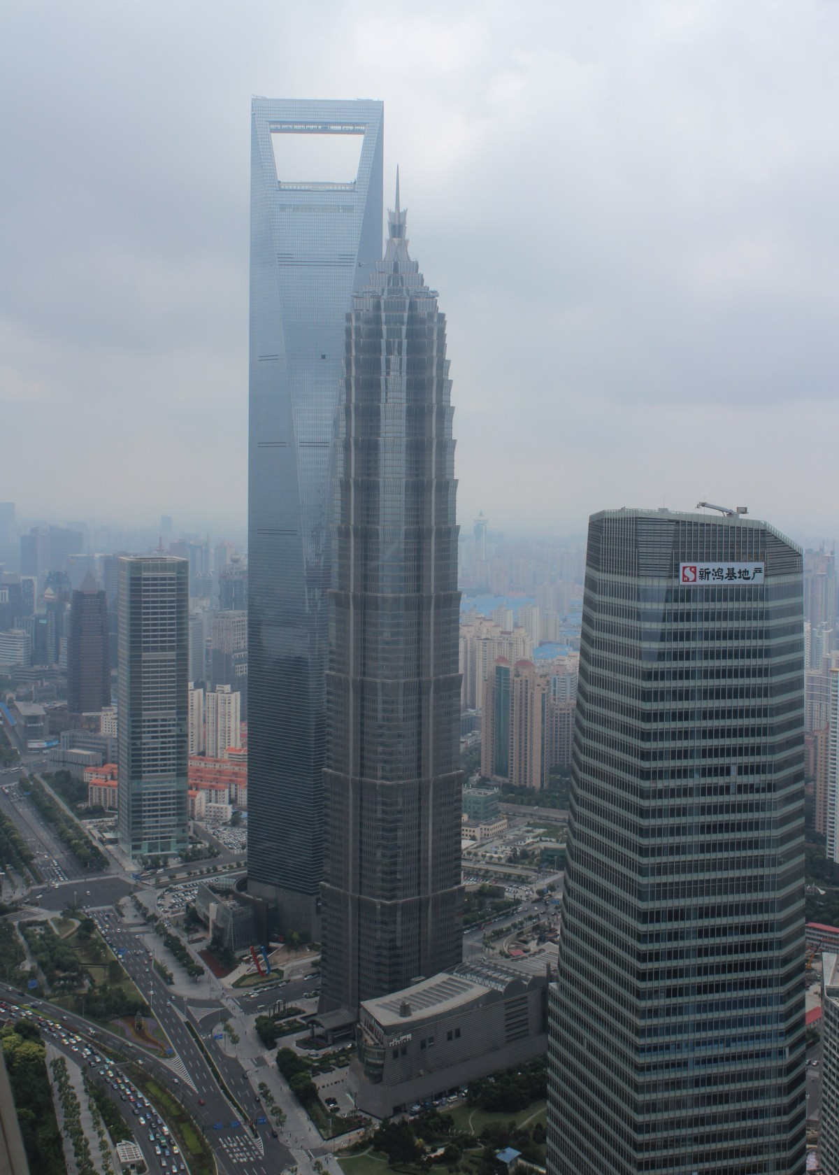 Shanghai - Ausblick vom Oriental Pearl Tower in Pudong V