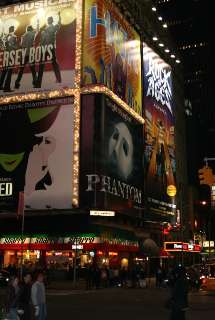 Times Square / Broadway in der Nacht IV