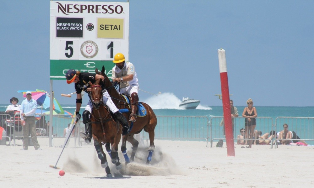 Miami Beach Polo World Cup am Strand XXIV