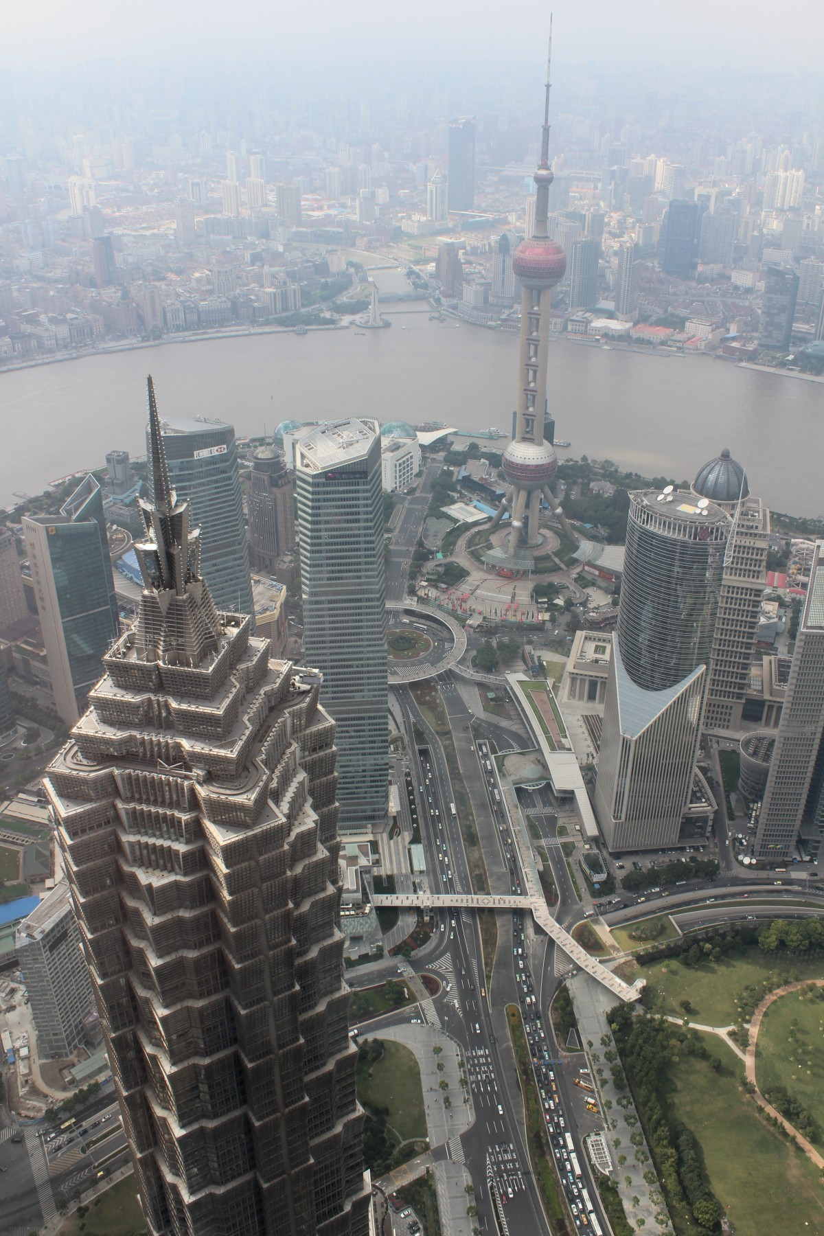 Shanghai  - Ausblick vom World Financial Center II