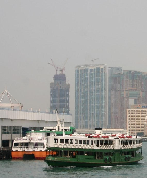 Star Ferry am Wan Chai Ferryport