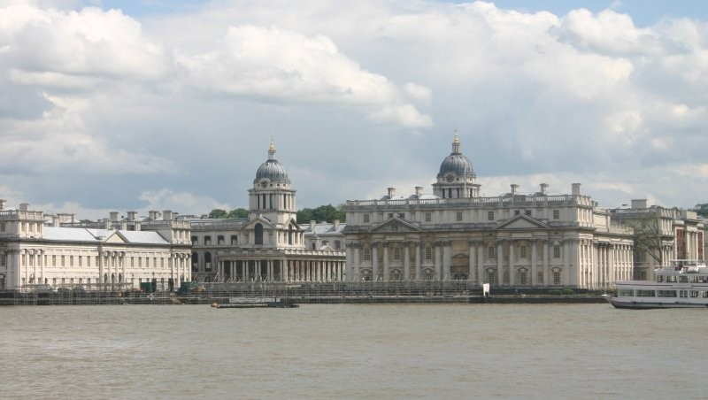 London - Themseufer mit Royal Naval College
