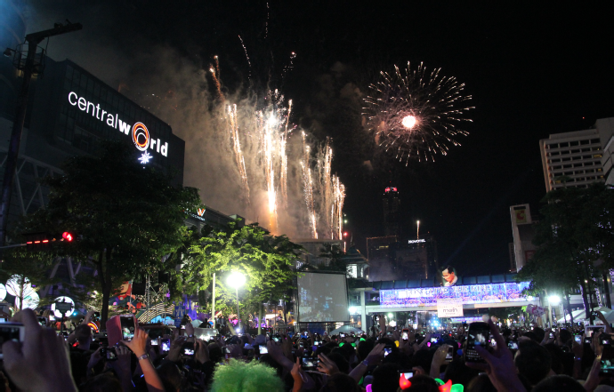 New Year Celebrations at Central World, Bangkok